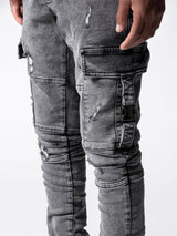 Neat Pockets Grey Jeans