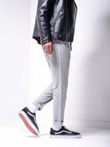 Grey Roll Up Ankle Pants