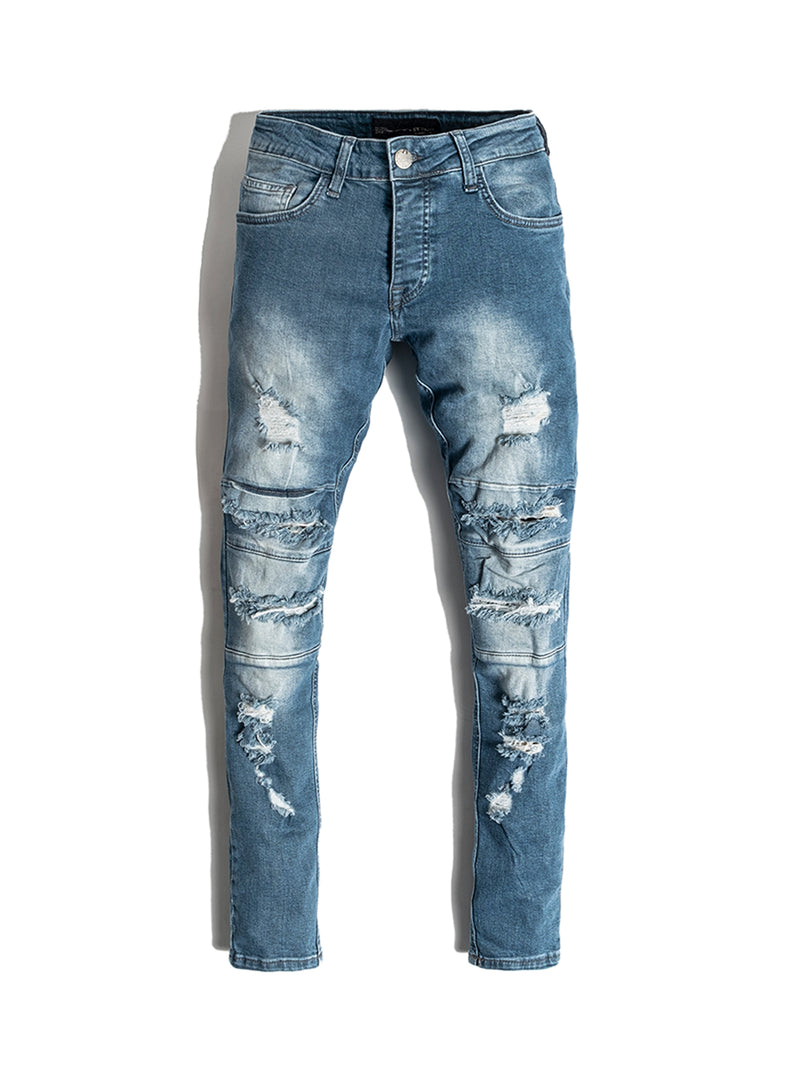 Blue Distressed Jeans