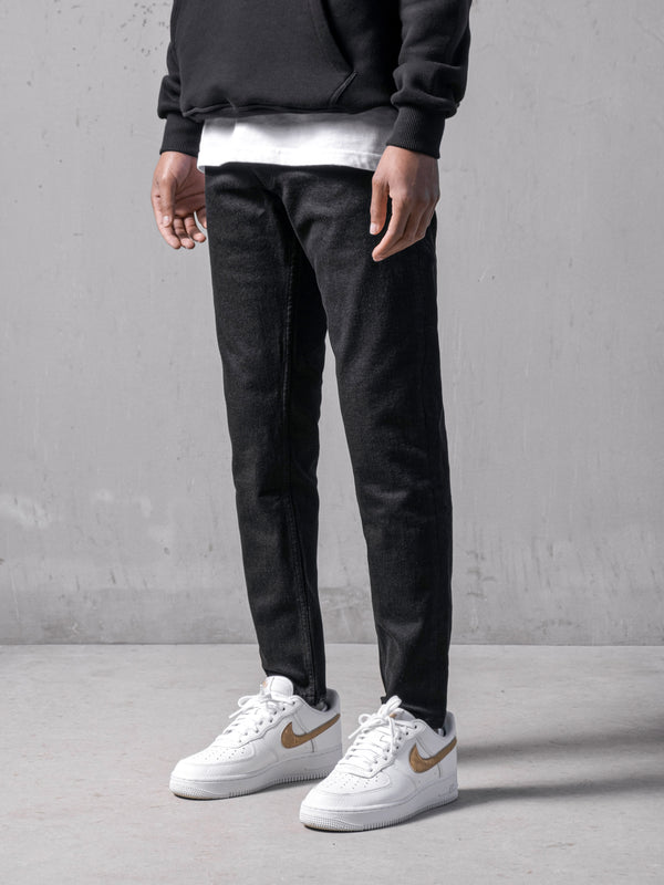 Black Basic Denim Pants