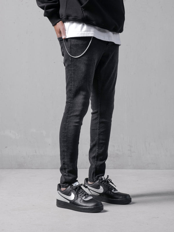 All Black Denim Jeans
