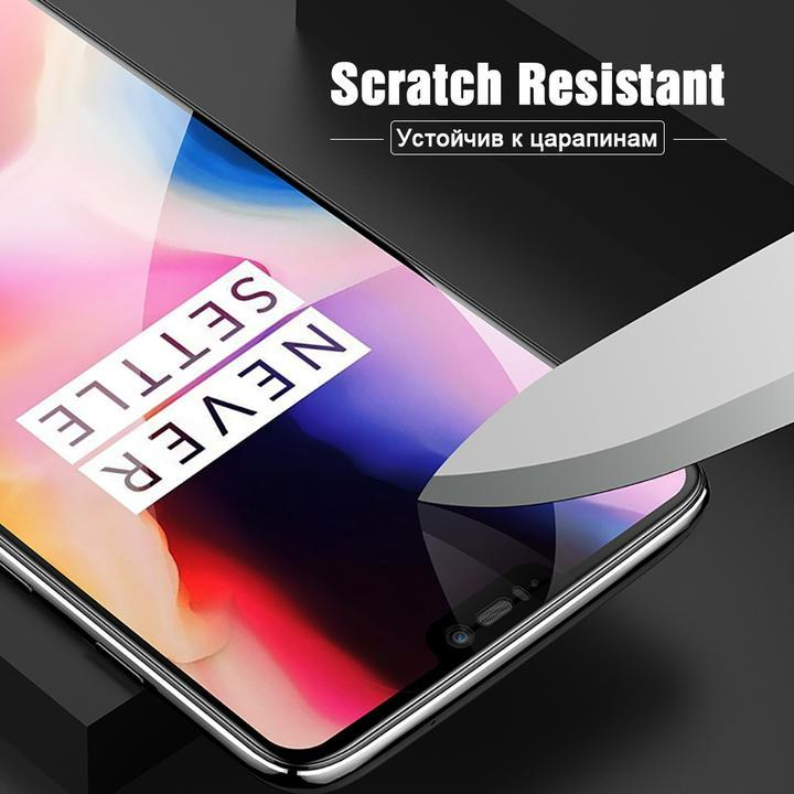 2 Packs 6D Full Coverage Tempered Screen Protector Film for Oneplus 6