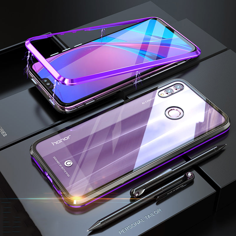 Luxury Magnetic Adsorption Metal Case For Huawei Honor 8X