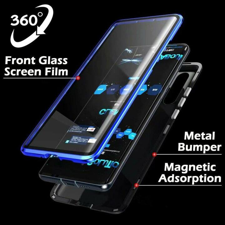 For Huawei P20 P20 Pro P20 Lite Front Back Glass Magnetic Adsorption Metal Case Cover