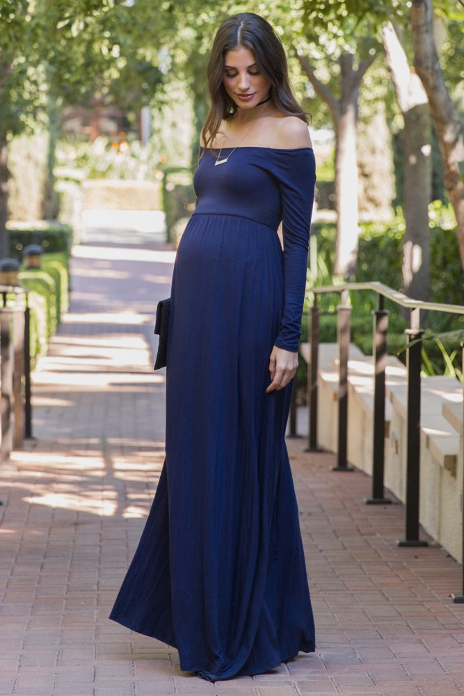 Heidi Off-Shoulder Gown - Nursing Friendly