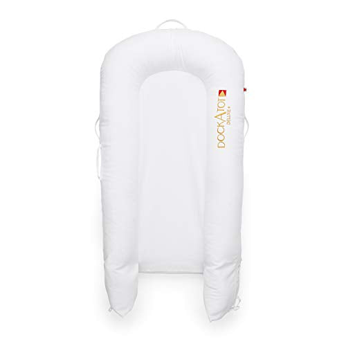 DockATot Deluxe+ Dock (Pristine White) - The All in One Baby Lounger - Perfect for Co Sleeping - Suitable from 0-8 Months (Pristine White)
