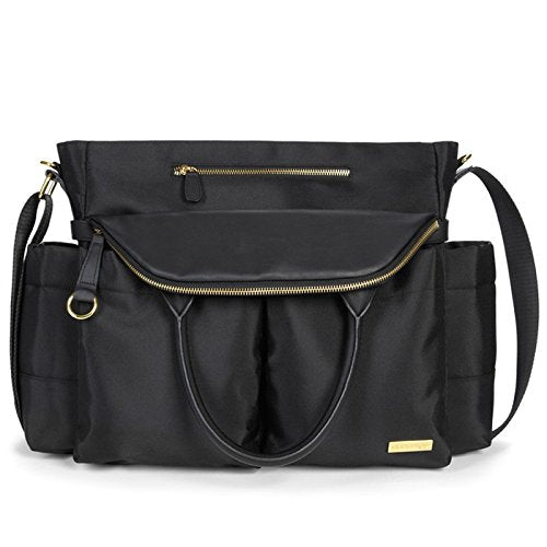 Skip Hop Chelsea Downtown Chic Diaper Satchel, Black