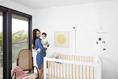 Nanit Smart Baby Monitor and Wall Mount - Camera with HD Video & Audio - Sleep Tracking - Night Vision - Temperature & Humidity Sensors and Nightlight