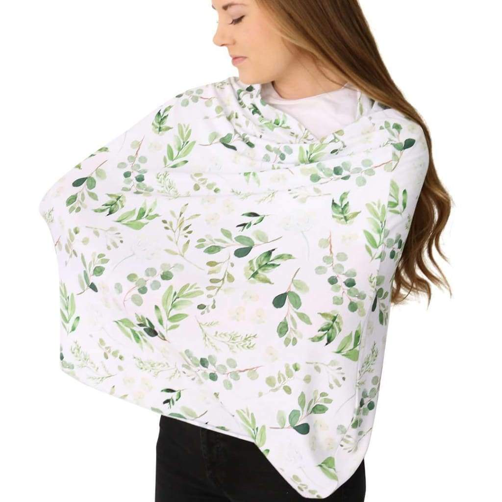 5 in 1 Nursing Scarf | Leafy Green Floral - Accessories - Affordable Boutique Fashion