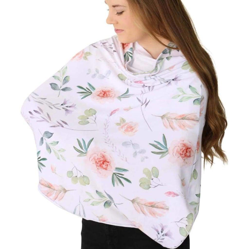 5 in 1 Nursing Scarf | Watercolor Floral - Accessories - Affordable Boutique Fashion
