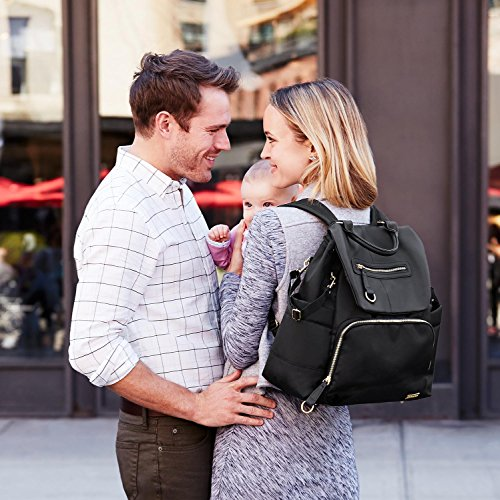 Skip Hop Chelsea Downtown Chic Diaper Backpack, Black