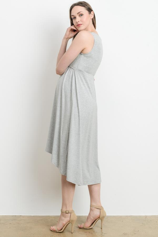 Sunday Heather Grey Midi Dress