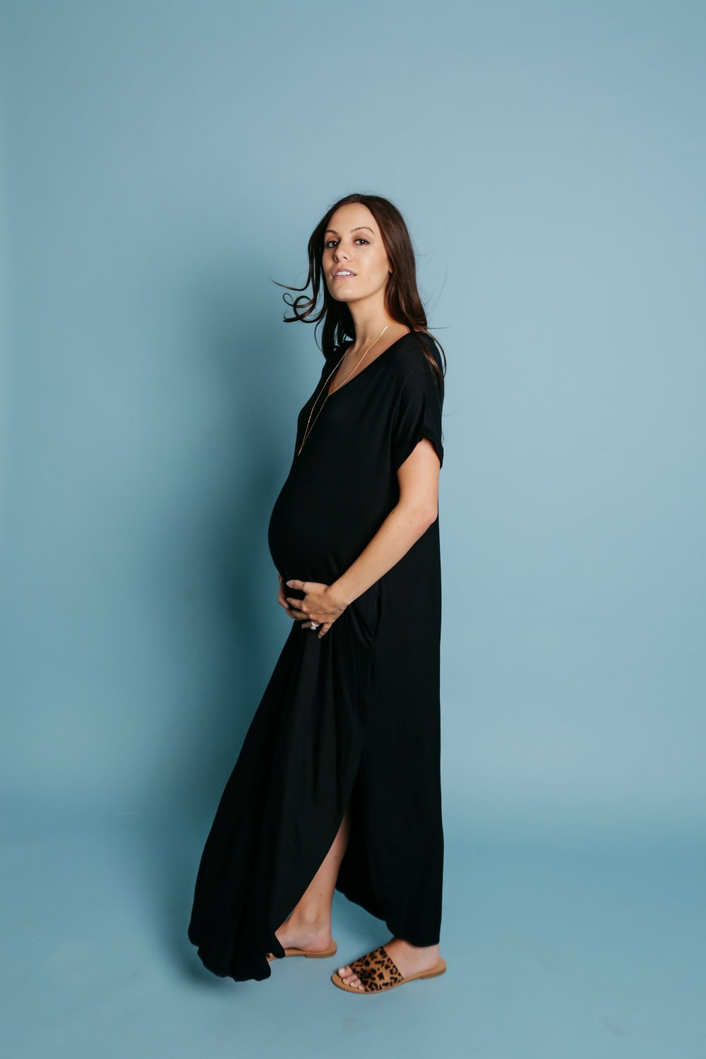 Sunday T-Shirt Maxi Dress | Black