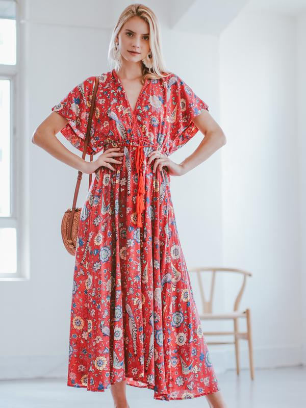 Desert Trails Print Maxi Dress