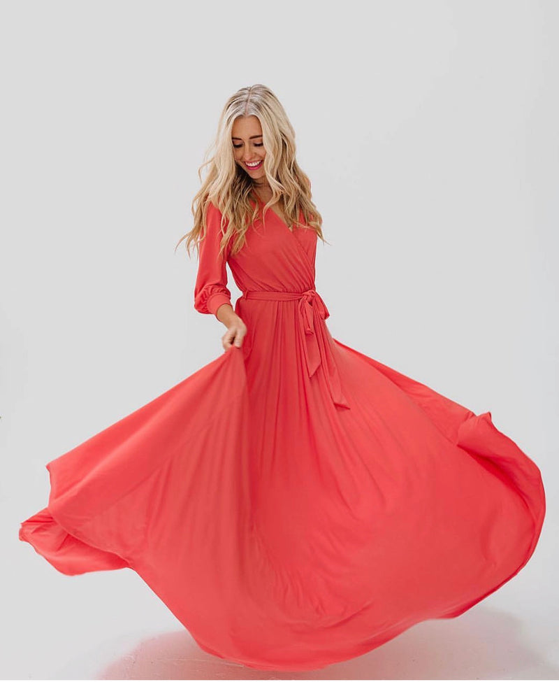 the Every Body Maxi Dress - Coral