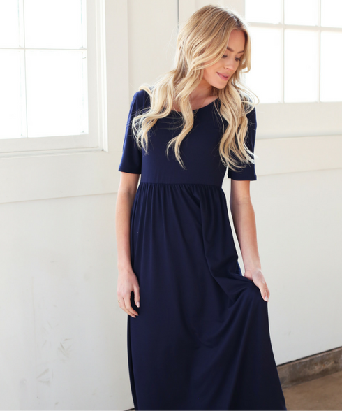 Haven 3/4 Sleeve Maxi Dress