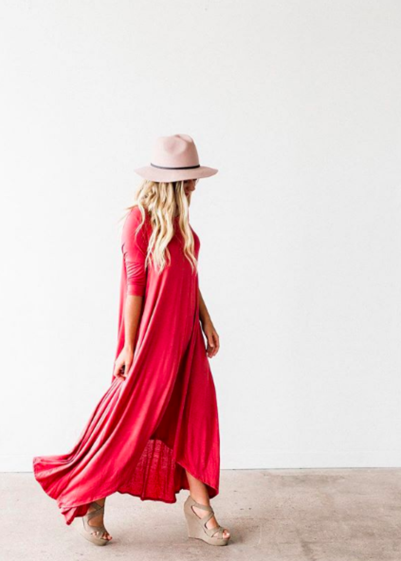 The Swing Maxi Dress | Coral