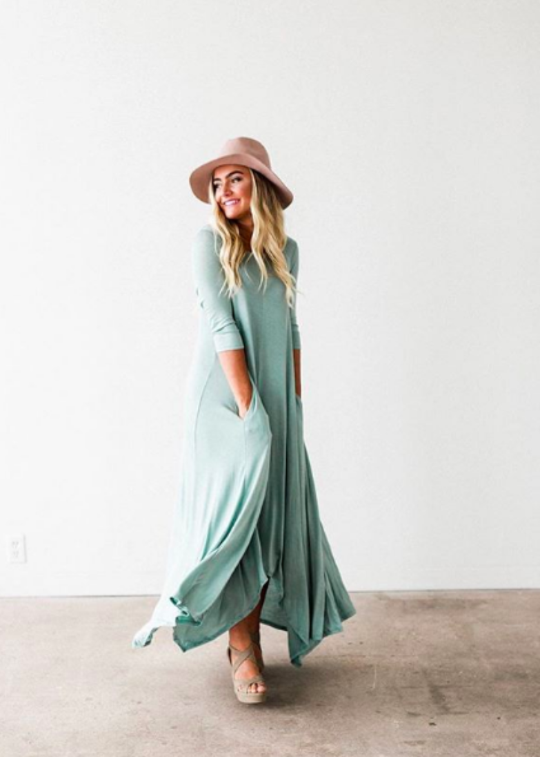 The Swing Maxi Dress | Seafoam