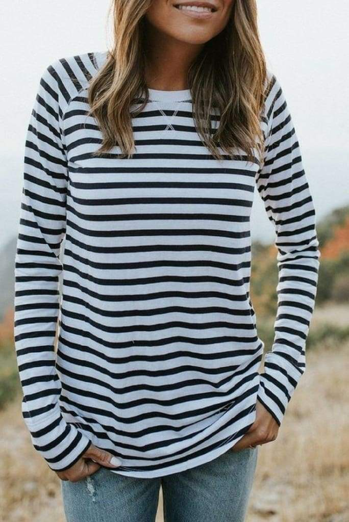 """Alara"" Relaxed Striped Top - Tops - Affordable Boutique Fashion"