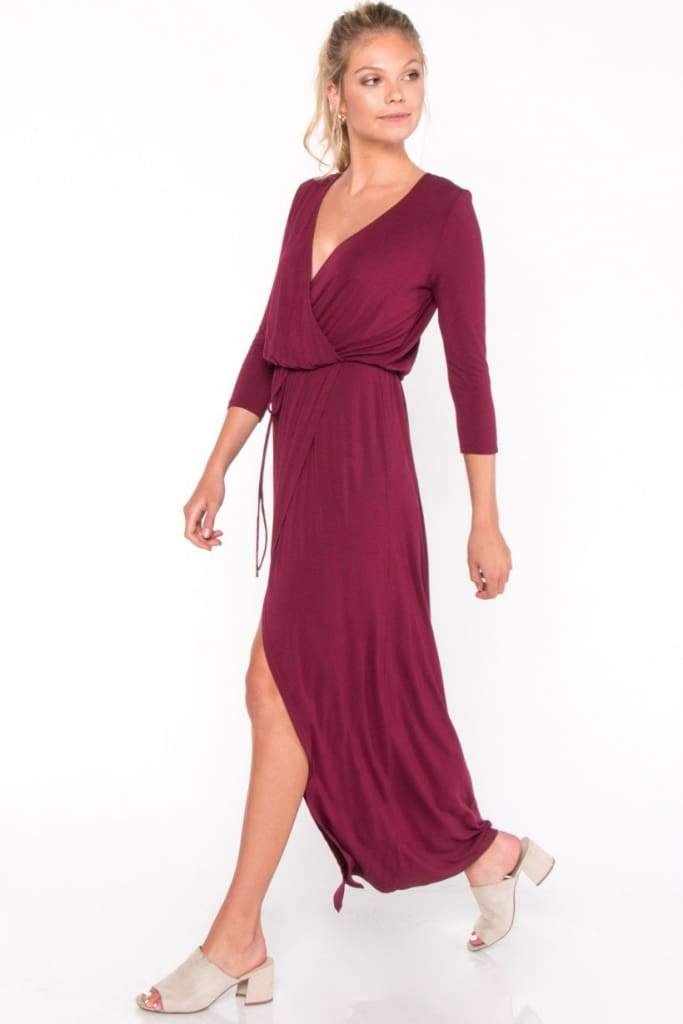 Arla Faux Wrap Maxi by EVERLY - DRESSES - Affordable Boutique Fashion