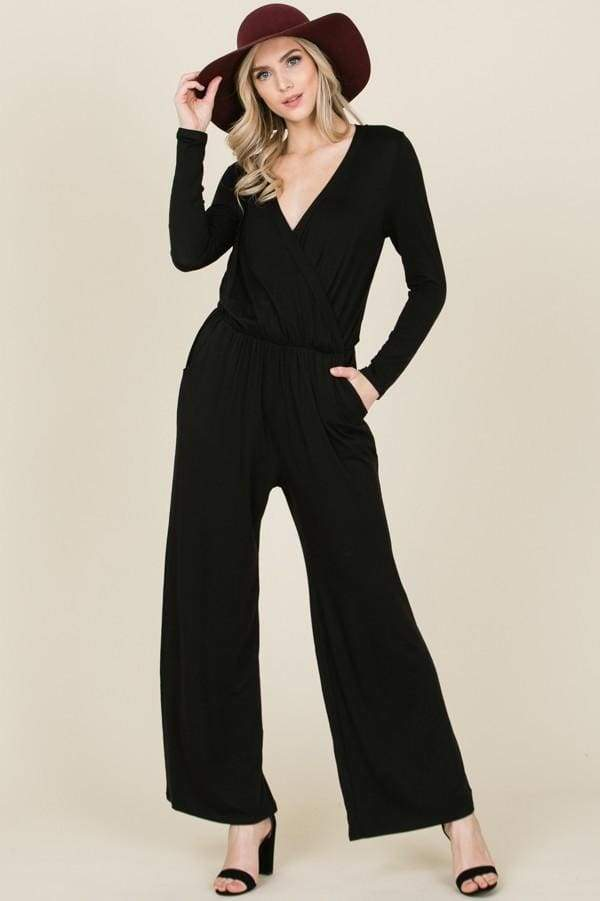 Avondale Drape Front Jumpsuit - Rompers & Jumpsuits - Affordable Boutique Fashion