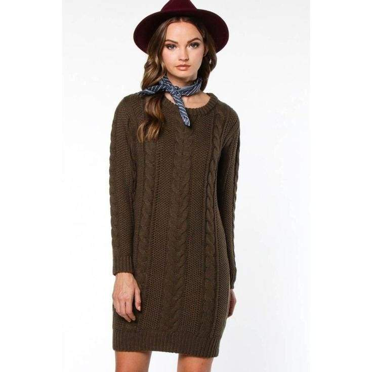 Brandywine Sweater Dress - dresses - Affordable Boutique Fashion