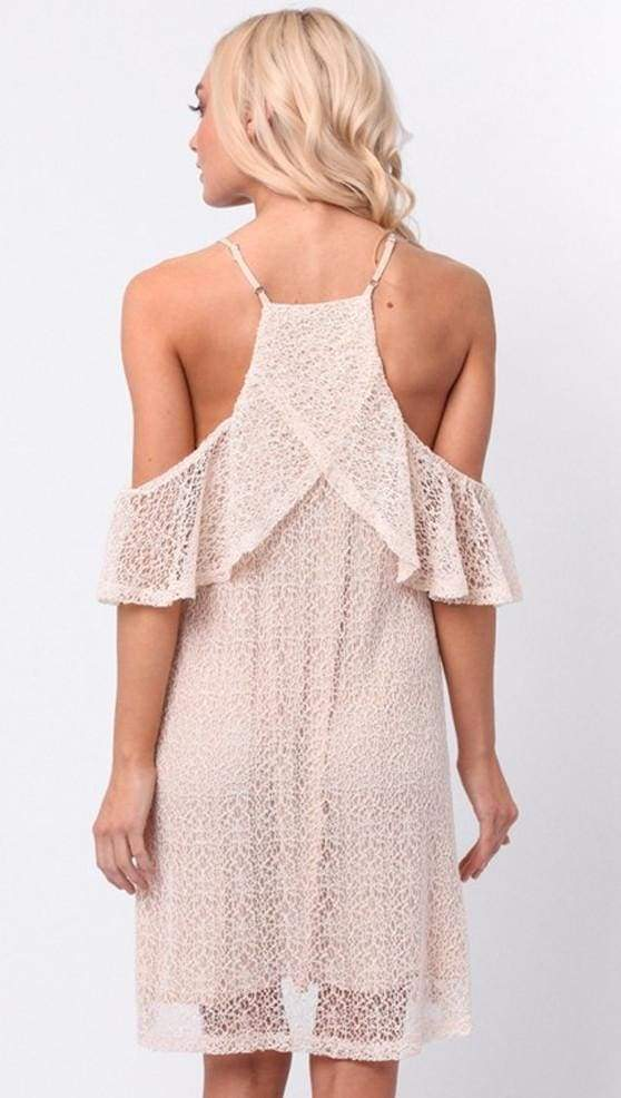 Brooke Cold Shoulder Lace Dress - Dresses - Affordable Boutique Fashion