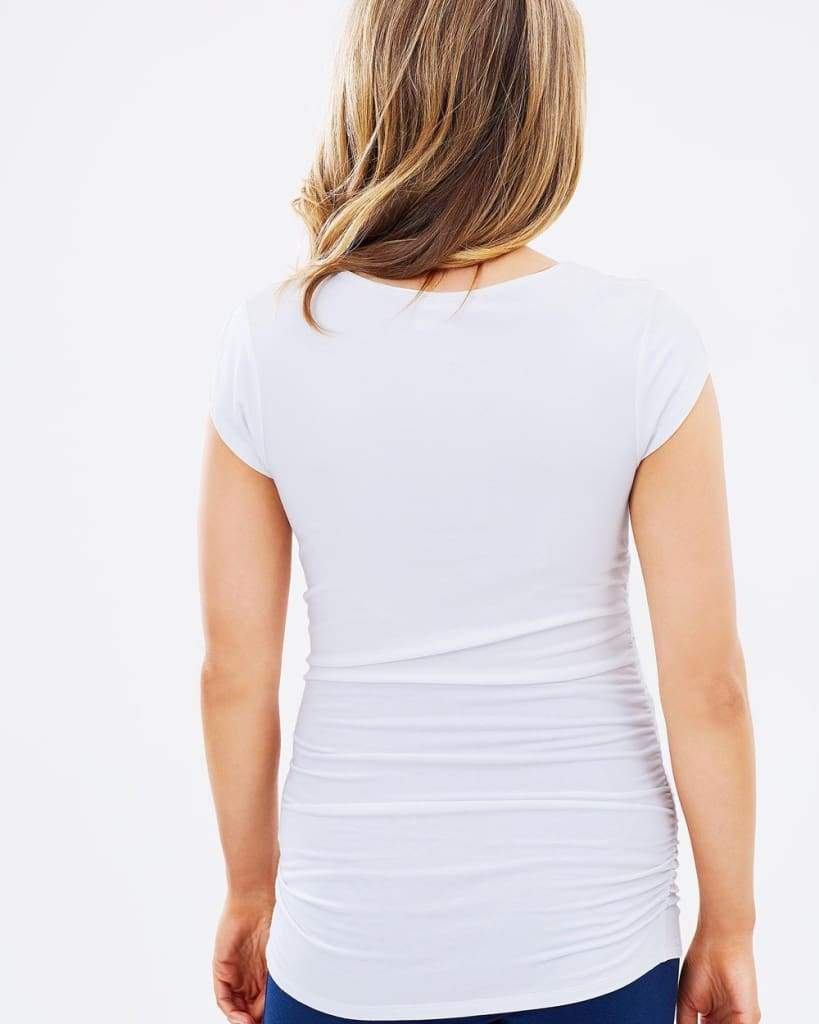 Bump & Beyond Perfect Tee | white - Tops - Affordable Boutique Fashion