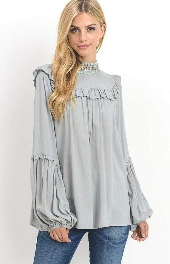 Canton Blouse - Sage - Tops - Affordable Boutique Fashion