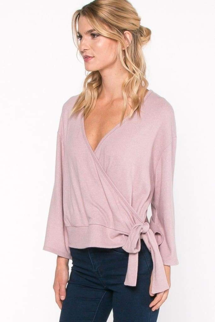 Elaine Draped Knit Top by EVERLY - Tops - Affordable Boutique Fashion