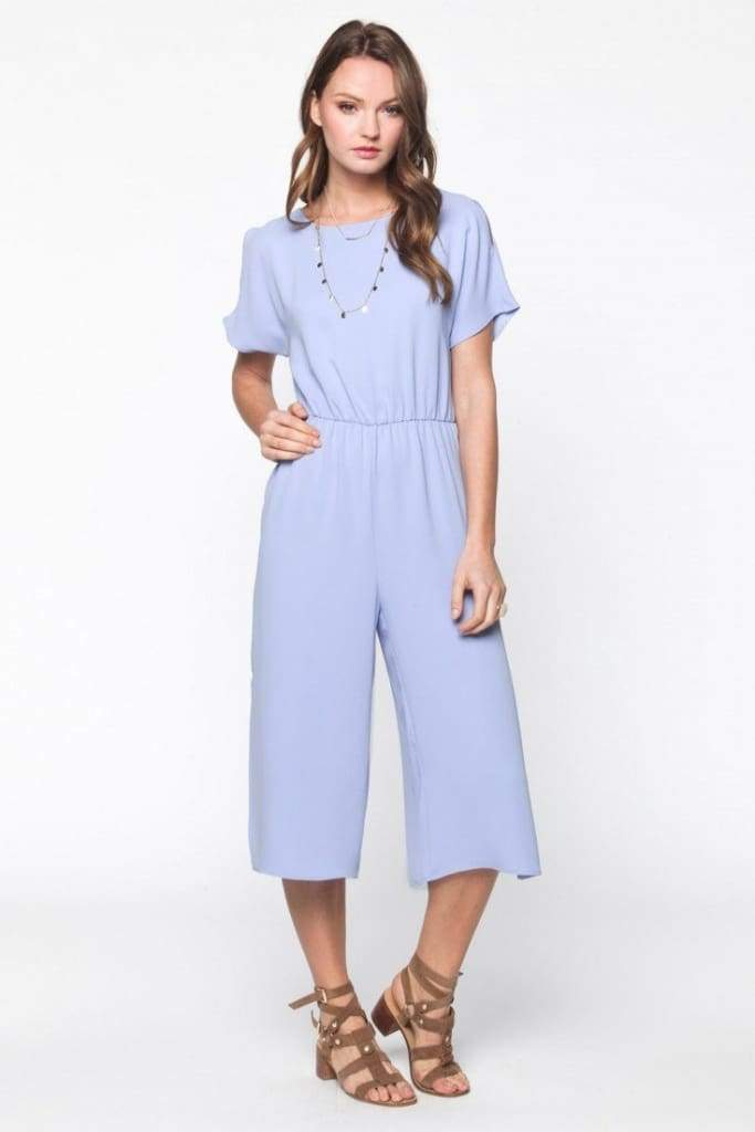 EVERLY Periwinkle Jumper - Rompers & Jumpsuits - Affordable Boutique Fashion