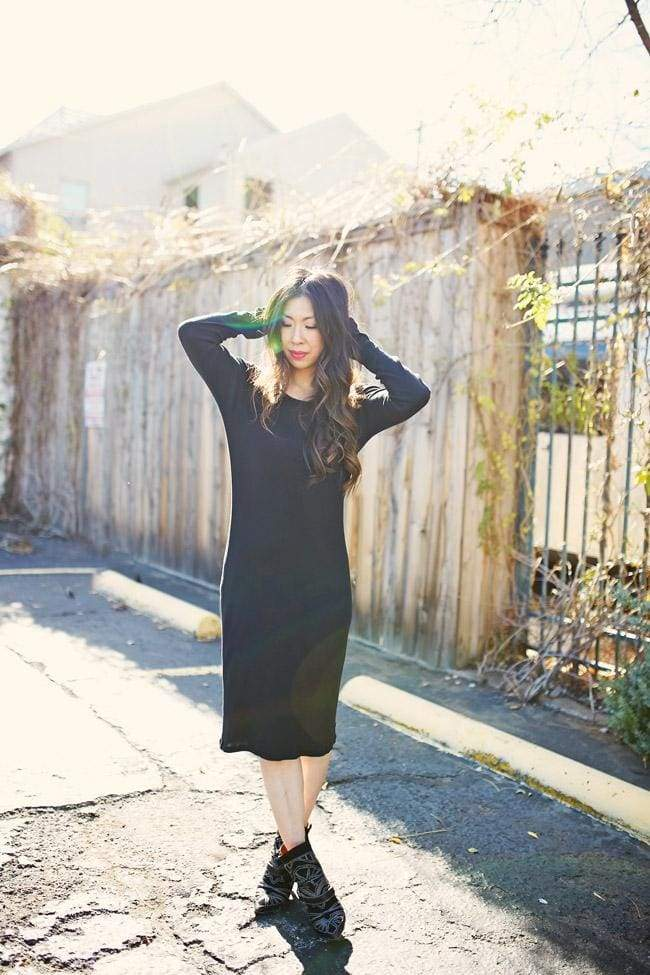 Fall Market Knit Midi Dress | Black - sweater - Affordable Boutique Fashion