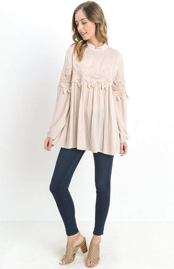 Forever Chic Embellished Blouse - Tops - Affordable Boutique Fashion
