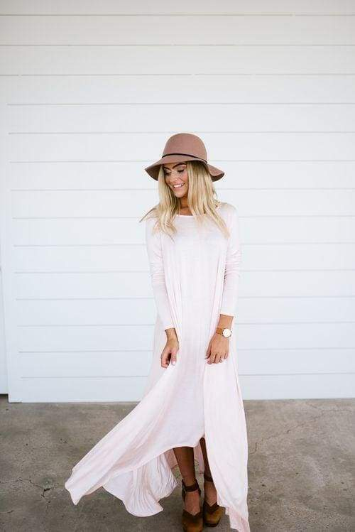 Free Falling Pocket Dress | Blush - Dresses - Affordable Boutique Fashion