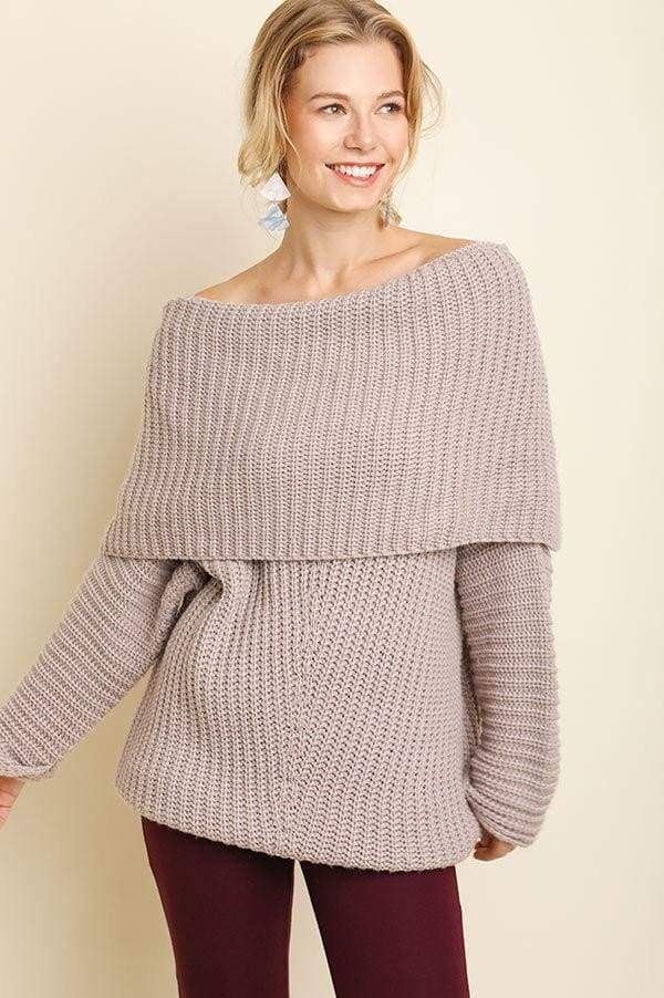 Freebird Brick Off Shoulder Sweater - SALE - Affordable Boutique Fashion