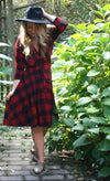Jillian Wrap Dress - Buffalo Plaid - Dresses - Affordable Boutique Fashion