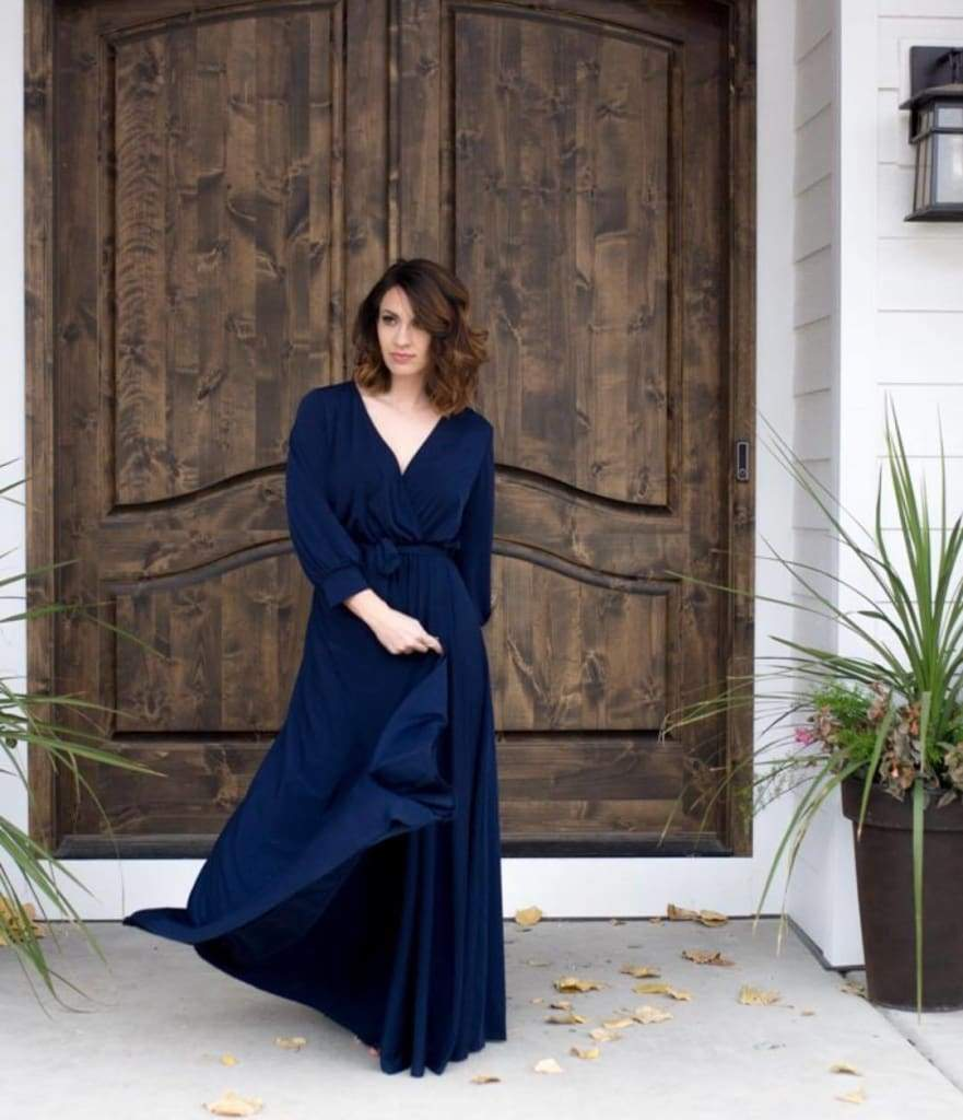 JANETTE MAXI - Navy