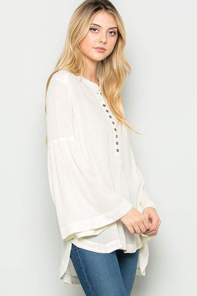 Midnight Bohemian Blouse - Ivory - SALE - Affordable Boutique Fashion