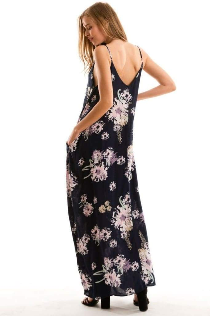 Mila Harem Floral Print Maxi - Dresses - Affordable Boutique Fashion
