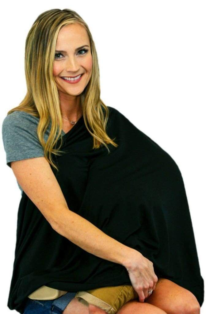 MOM Nursing Scarf - Black - Accessories - Affordable Boutique Fashion