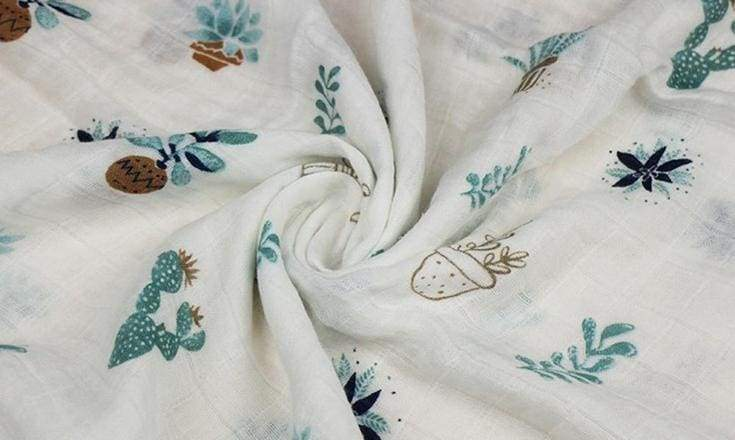 Muslin Swaddle in Sweet Succulents - baby - Affordable Boutique Fashion
