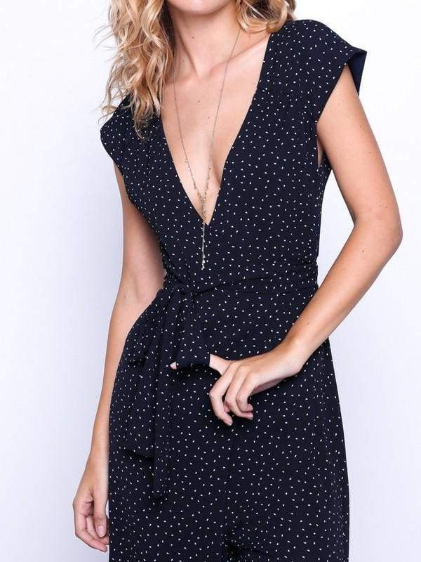 Polka Dot Speckled Jumpsuit - Rompers & Jumpsuits - Affordable Boutique Fashion