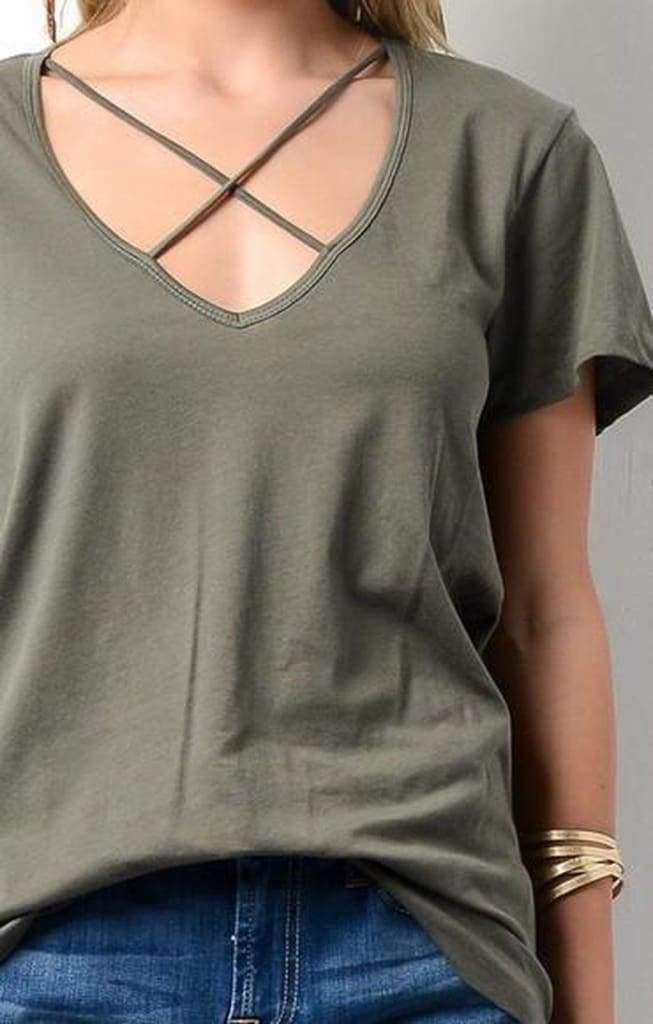 Ronnie X Front Black Tee - Tops - Affordable Boutique Fashion