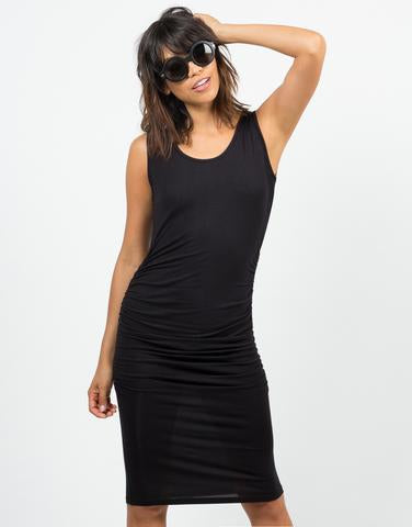 Jules Seamless Ruched Tank Dress