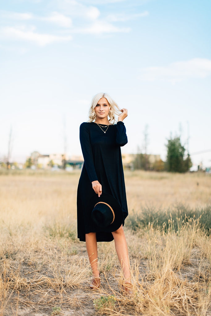 Catherine Pocket Midi - Black