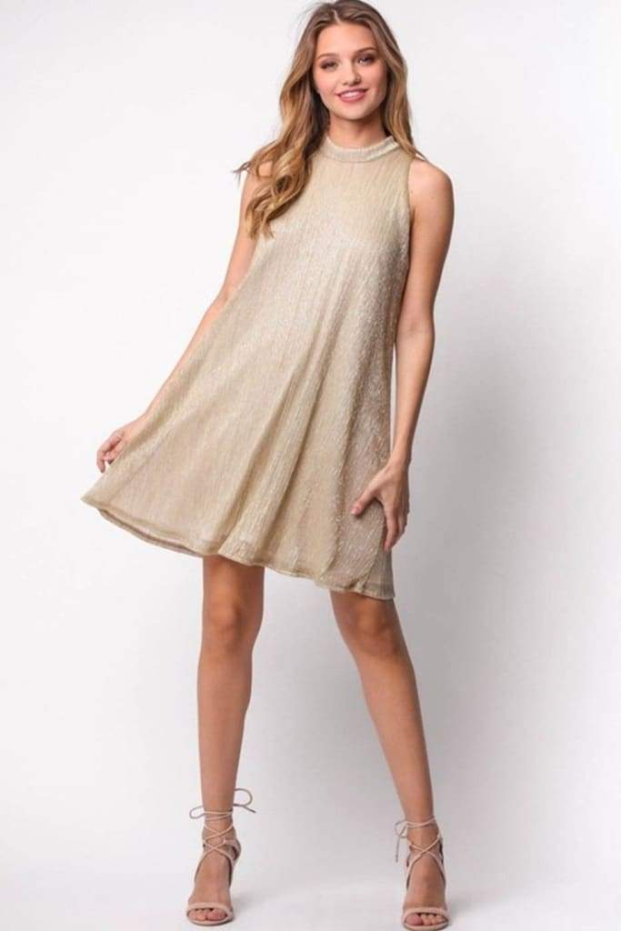 Starstruck Metallic Dress - SALE - Affordable Boutique Fashion