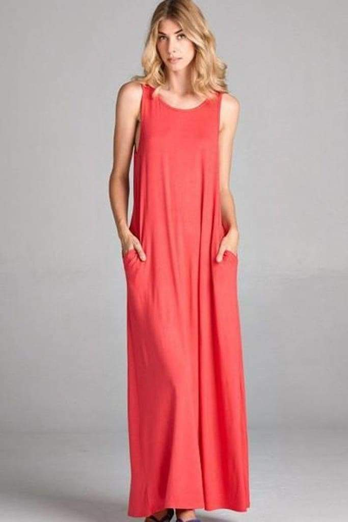 Stella Casual Pocket Maxi Dress (6 Additional Colors) - DRESSES - Affordable Boutique Fashion