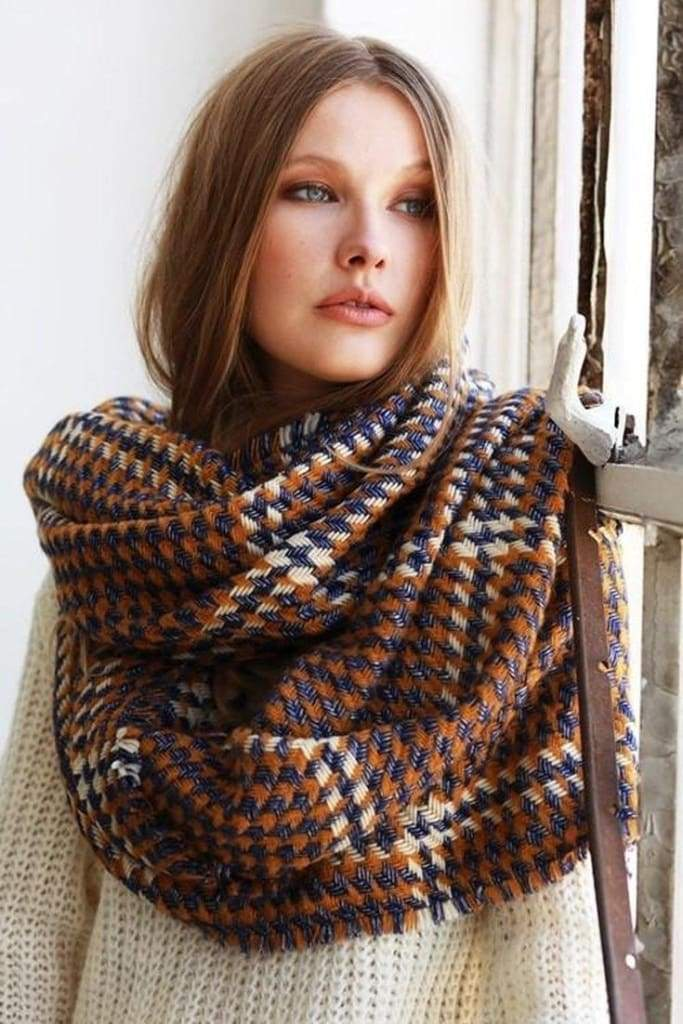 The Embers Houndstooth Blanket Scarf - Accessories - Affordable Boutique Fashion