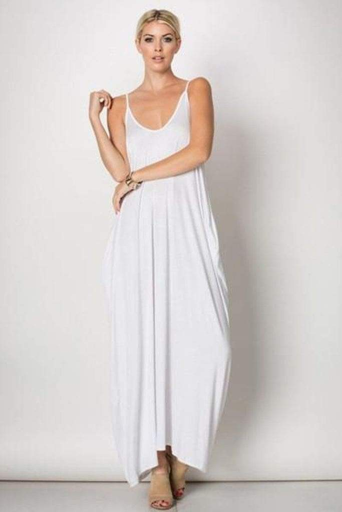 The Mila Maxi Dress - White - Dresses - Affordable Boutique Fashion