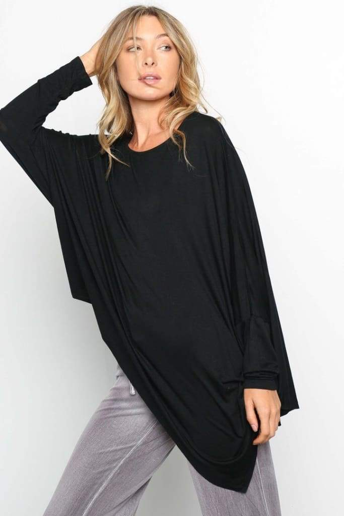 Wren Everyday Essentials Top - Black - Tops - Affordable Boutique Fashion